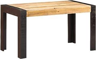 Table de salle à manger en bois massif de manguier 140 x 70 x 76 cm