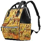 WJJSXKA Mochilas Bolsa de pañales Laptop Notebook Mochila de viaje Senderismo Daypack para Mujeres Hombres - Wild Guanacoes Natural Park Chile