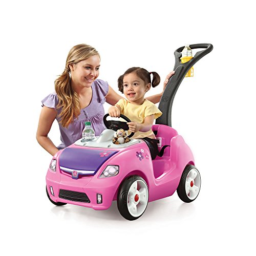 Whisper Ride II Push Car- Made With Durable Plastic- Pink in Color- Features a...