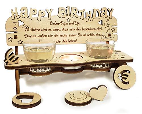 PISDEZ schönes Geburtstagsgeschenk für Frauen - für Mama - für Oma - für Männer - für Papa - für Opa - personalisiert