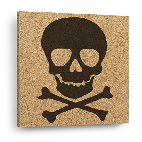SKULL & CROSSBONES - Mix & Match Cork Decor Art Tiles Or Kitchen Trivet - Wall DéCork