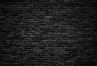 Laeacco Dark Gray Brick Wall Background Photography Backdrops for Studio 10x6.5ft Vinyl Studio Backdrop Customized Backdrop Black Brick Wall Stone Texture Retro Block Concrete Vintage Wallpaper