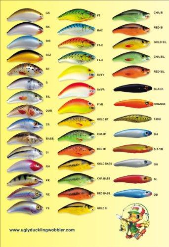 Ugly Duckling - Wobbler - Dekor Firetiger (FT) - Länge 7 cm - 5 Gramm - Schwimmend - zweiteilig