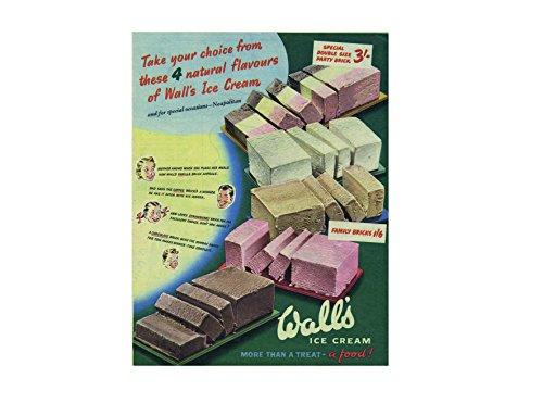 Ecool Wall's ijs meer dan een traktatie retro shabby chic vintage stijl acryl koelkast magneet of kan worden gebruikt een plaque