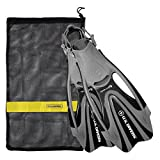 U.S. Divers FA328O0115S Proflex FX Snorkeling Set Size Small Mens & Womens Diving Fins with Mesh Carry Bag, Black