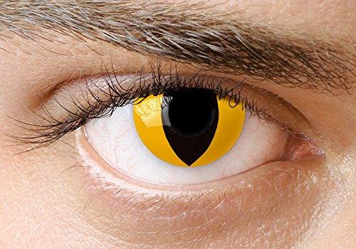 Lentillas de contacto de color amarillo estilo gato