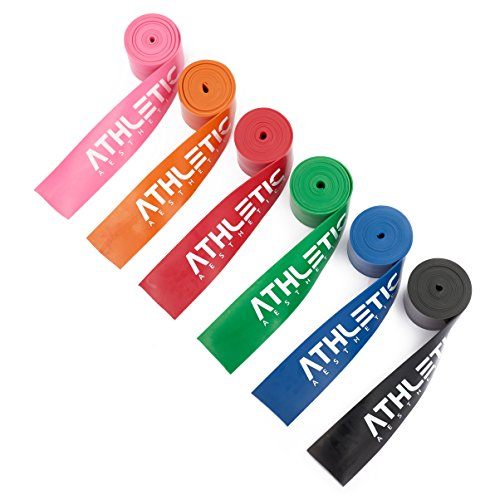 Floss Band + Tasche und Übungsanleitung [2m] Flossing Band für Physiotherapie, Triggerpunktbehandlung und zur Selbstmassage - Für Freizeitsportler und Leistungssportler geeignet (schwarz)