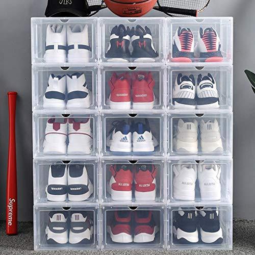 Krispich 4 cajas de zapatos apilables de plástico transparente organizador de zapatos (4 piezas)