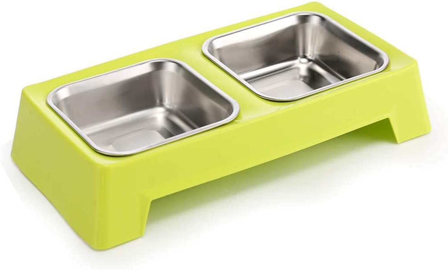 Pet Bowls Pet Supplies Stainless Steel Bowl Double Bowl, Heightened Cat and Dog Food Bowl Bowl 1 Bowl Dual Purpose Pet Diet Water