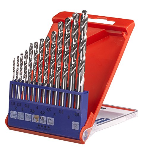 kwb Silver Star Metallbohrer-Satz, HSS-G – Bohrer-Set, 13-teilig für alle handelsüblichen Bohrmaschinen