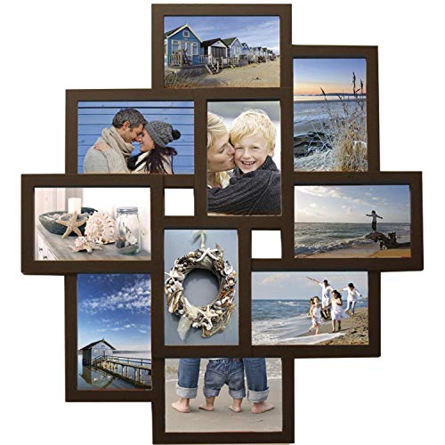Henzo Holiday Gallery Bilderrahmen, Kunststoff, Dunkelbraun, Rahmenformat 45x60 cm