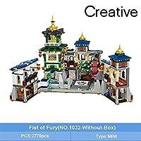Llsdls ミニブロックミニベルトボックスハウス折りたたみジンウカンフージンウ博物館中国風アーキテクチャモデルDIYアセンブリのおもちゃ ( Color : 1032 Without Box )