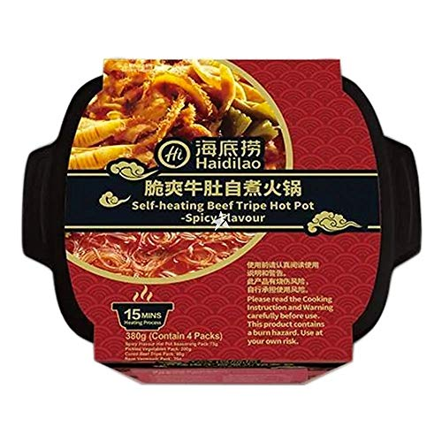Haidilao Self-Heating Beef Tripe Hot Pot Spicy Flavour 380g