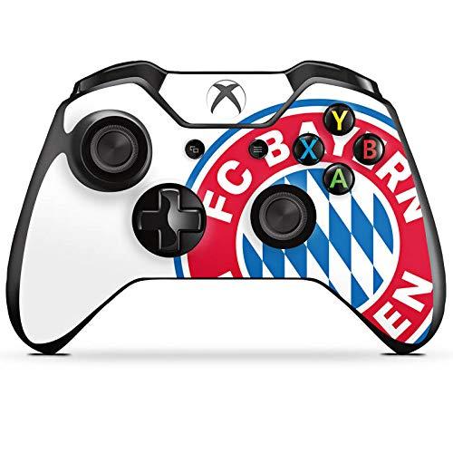 DeinDesign Skin kompatibel mit Microsoft Xbox One Controller Folie Sticker FC Bayern München Logo FCB