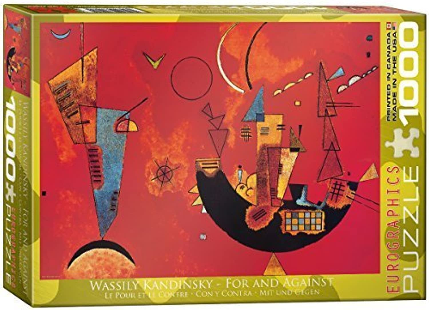 conveniente Eurographics For and Against by Wassily Kandinsky Puzzle (1000 (1000 (1000 Pieces) by Eurographics  te hará satisfecho