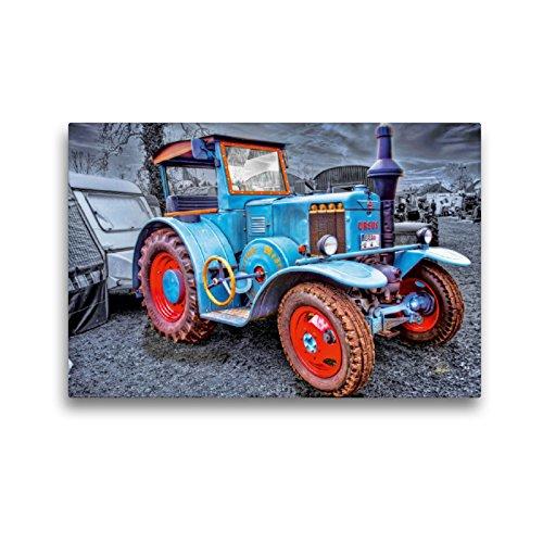 CALVENDO Premium Textil-Leinwand 45 x 30 cm Quer-Format Oldtimer Traktor Ursus, Leinwanddruck von Peter Roder