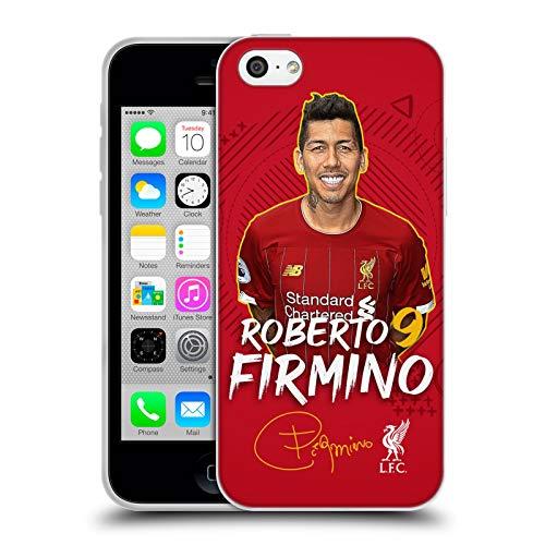 Head Case Designs Oficial Liverpool Football Club Roberto Firmino 2019/20 Primer Equipo Grupo 1 Carcasa de Gel de Silicona Compatible con Apple iPhone 5c