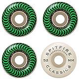 Spitfire Wheels Formula Four Classic Swirl ホワイト グリーン スケートボードホイール - 52mm 101a (4個セット)