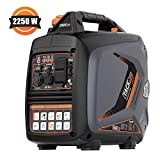 TACKLIFE Inverter Generator, Portable Gas-Power Generator, 2250-Watts, 53dB, 4L, Overhead Valve, 40lb, Eco Mode Engaged, EPA&CARB Certified, RV Ready, Best for Hurricane&Typhoon Season--TKGT18