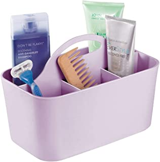mDesign Plastic Portable Storage Organizer Caddy Tote – Divided Basket Bin with..