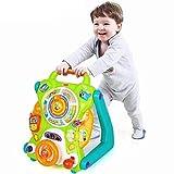 Btybess Jouet bébé multifonction Walker 3in1 Chariot poussette for enfants 6-18 mois Walker Apprendre à marcher apprentissage Walker for tout-petits et les enfants jouer avec des jouets Walker Tray la