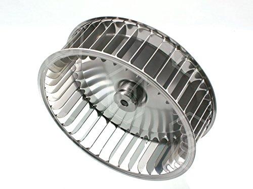 UNOX Ventilateur Roue pour Kombi Set de Amortisseur, Ventilateur de four – Ø 196 mm D2 Ø 10/8 mm D3 Ø 10 mm Kit de H1 61 MM H2 32 mm avec 39 pelles Ventilateur