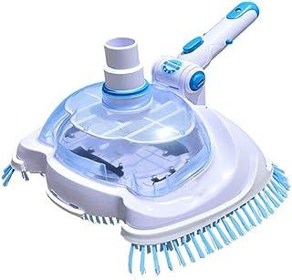 Fineshelf - Forro de vinilo transparente para alberca y spa con cabezal de aspiradora, herramienta de limpieza y mantenimi...