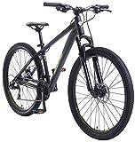 BIKESTAR Hardtail Aluminium Mountainbike Shimano 21 Gang Schaltung, Scheibenbremse 27.5 Zoll Reifen | 16 Zoll Rahmen Alu MTB | Schwarz Gelb