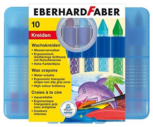 Eberhard Faber 521110 - Wachskreide, wasservermalbar, 10er Etui