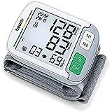 Beurer BC 51 Tensiomètre au poignet, affichage de positionnement, affichage XL, indicateur de risque, détection d'arythmie, 2 x 120 emplacements mémoire