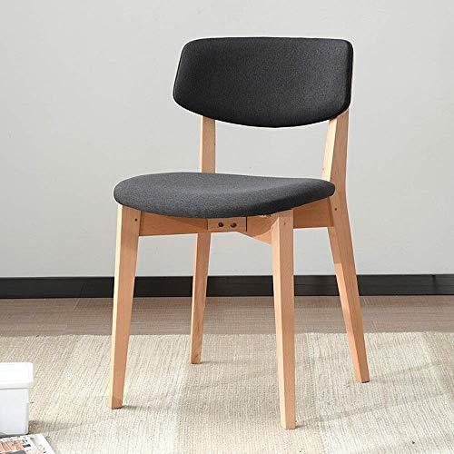 BXU-BG Sillas de comedor, cocina, mesa de ocio, silla de comedor de madera maciza, silla de negociación de café, adecuada para el hogar y el hotel (color: negro, tamaño: 77 x 41 x 40 cm)