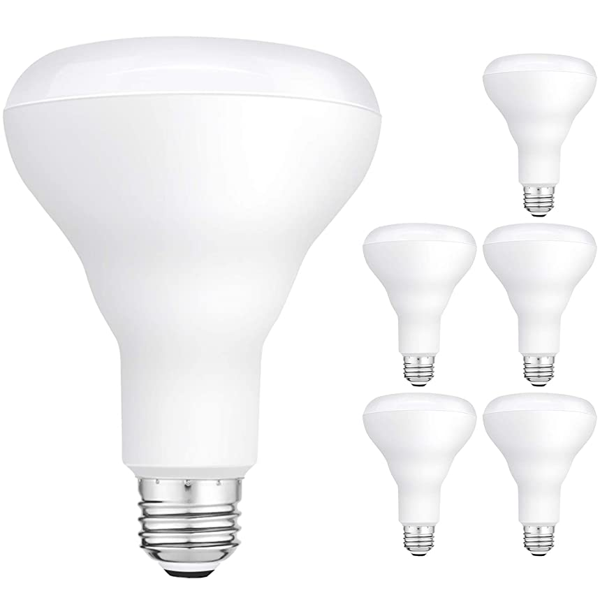 Hykolity 6 Pack Flood Light Bulb, BR30 LED Bulb for Indoor/Outdoor Security Light Downlight Recessed Can Light, Dimmable, 11W=75W, 3000K Warm White, 850lm, E26 Base