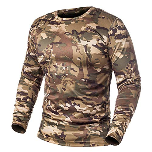 Frühling Langarm Tactical Camouflage T-Shirt Männer Soldaten Combat Military T-Shirt Cp L