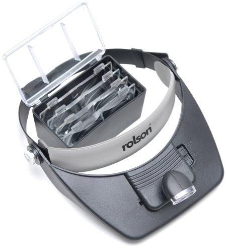 Rolson 60390 LED Head Loupe Magnifier Visor