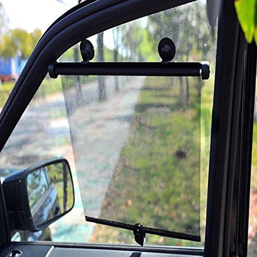 C-FUNN 2 stks auto zijvenster zonnescherm gordijn Rolgordijn Blind Screen Protector vizier