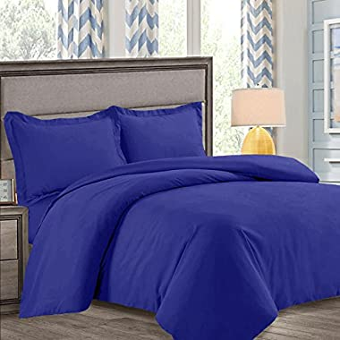 Nestl Bedding Duvet Cover, Protects and Covers your Comforter/Duvet Insert, Luxury 100% Super Soft Microfiber, King Size, Color Royal Blue 3 Piece Duvet Cover Set Includes 2 Pillow Shams
