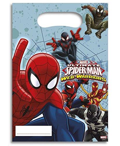 Lot 6 sachet surprise Spiderman - Sac Cadeau Bonbon Fête Anniversaire - 562