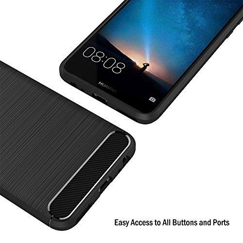 AICEK Huawei Mate 10 Lite Hülle, Schwarz Silikon Handyhülle für Huawei Mate 10 Lite Schutzhülle Karbon Optik Soft Case (5,9 Zoll) - 4