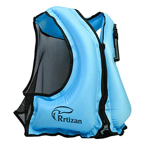 Rrtizan Aufblasbare Schnorchelweste Festtoffweste ideal Für Erwachsene für den Wassersport, Auftriebshilfe