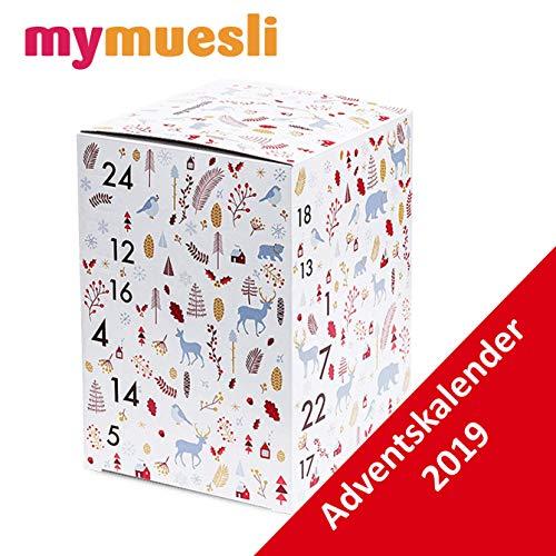 MyMuesli Advent Calendar 2019-24 Organic Cereal Bar Advent Calendar by My Cereal for Men and Women