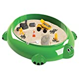 Sandbox Critters Sea Turtle Play Set with cover (toy to play with NOT for children to play in sandbox)