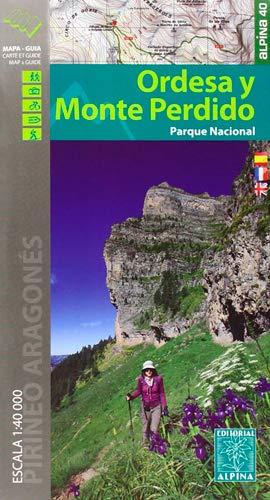 Parque Nacional de Ordesa y Monte Perdido. Escala 1:40.000. 2 mapas. Castellano,...