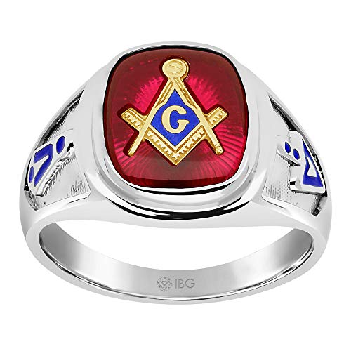 10k Yellow Gold or 925 Sterling Silver Blue Lodge Masonic Ring Finger Size 10