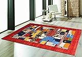 Blackamoor Rugs Ariana - Alfombra y Alfombra de diseño Tradicional Indio de Gabbeh Orient teppich con Nudos