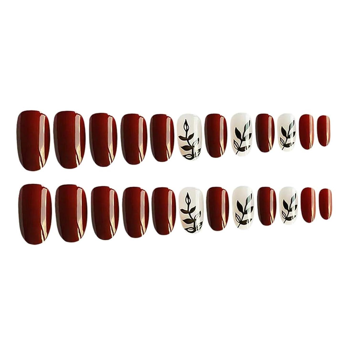 角度間違いなく切るネイルステッカー つけ爪 付け爪 ネイルチップ 人工爪 ネイル アート ツール 約24個入り 全4カラー - 01