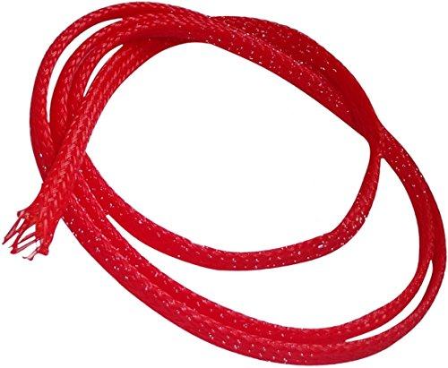 Aerzetix: Kabelmantel Schrumpfschlauch elektrische Kabelhülse 2 m 4 mm von 3 mm bis 7 mm Rot