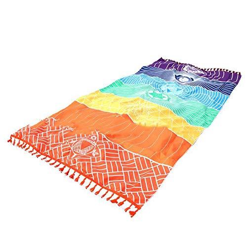 Mandala yoga mat Rainbow Chakra Toalla de playa manta para baño toalla yoga mat 7 Chakra Tapicería de Colores Toallas de Playa Rectangular Estilo Indio