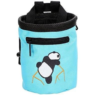 AMC(TM) Climbing Panda Compact Chalk Bag with Belt, 7184_Light Blue