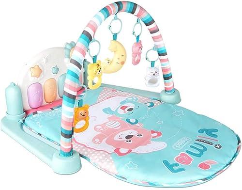 Baby Activity Gym - Spielmatte Fitness Lernen Kissen Spaß Tiere, Musik, Texturen, Entdeckung Teppich Für 0-12 Monate Neugeborenes Baby,Bear