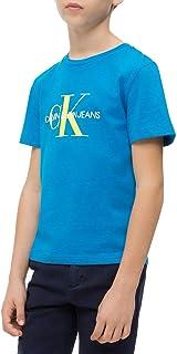 Calvin Klein -Camiseta IB0IB00136 404 Monogram Logo REGUAR FIT tee -Camiseta Manga Corta NIÑO